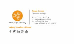 Email Signature Example for Charity