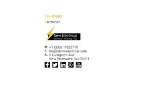 Email Signature Example for Electrician