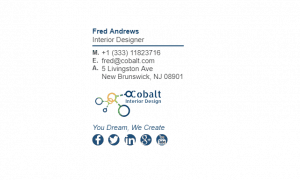 Email Signature Example for Interior Designer