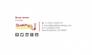 Email Signature Example for Plumber