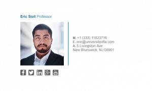 Email Signature Example for Professor