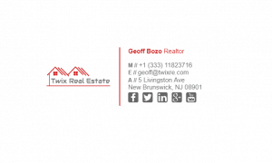 Email Signature Example for Realtor