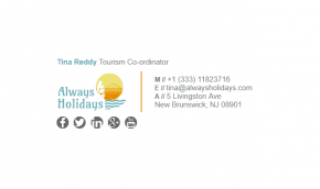 Email Signature Example for Tourism