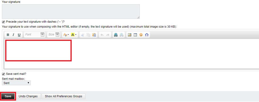 Horde Email Signature
