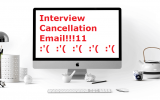 Cancel an Interview by Email