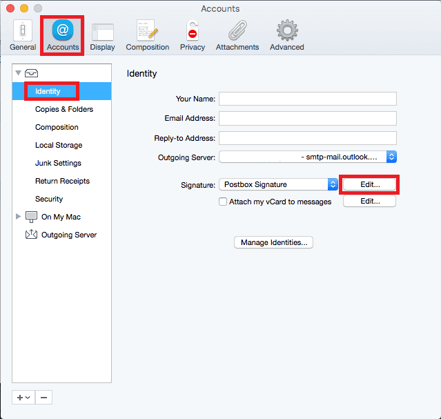 Postbox MacOS Email Signature