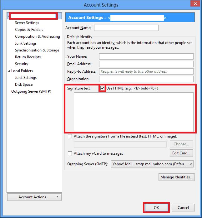 Thunderbird OSX Email Signature