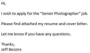 Bad Email Asking for Internship