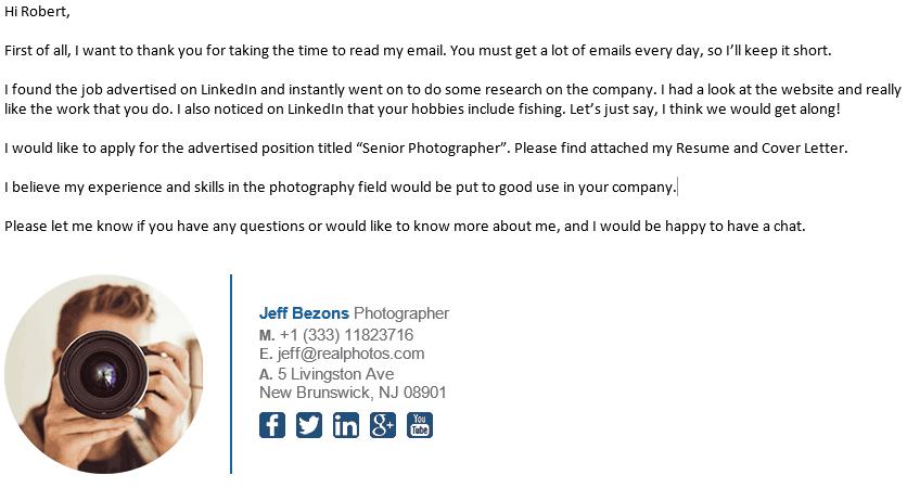 Good Email Asking for Internship