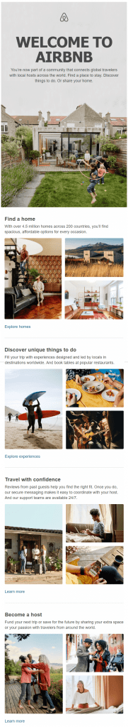AirBNB Welcome Emails