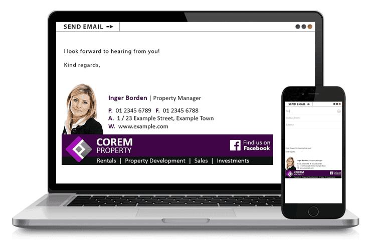 Inger Borden - Email Signature Example