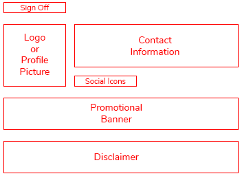 email signature layout
