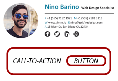 email signature banner structure