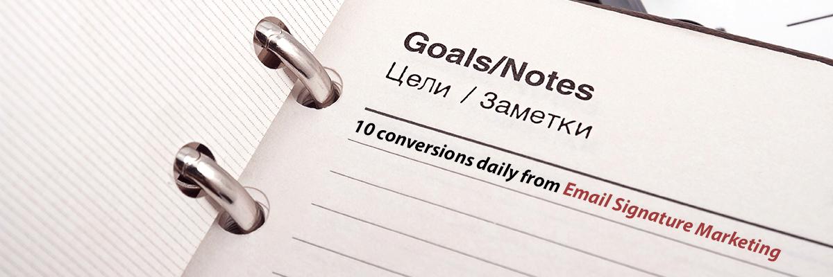 email signature marketing goals