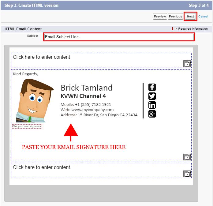 Add Email Signature Salesforce 10