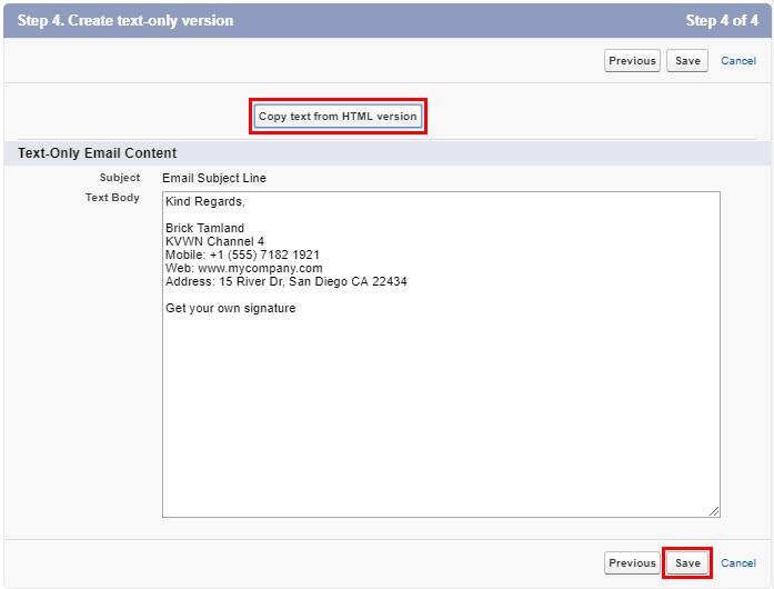 Add Email Signature Salesforce 11