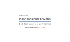 Email Signature Example for Blogger