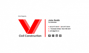 Email Signature Example for Builders