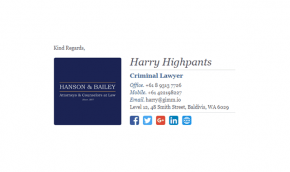 Email Signature Example for Lawyers