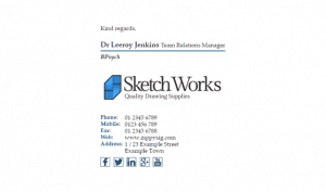 Email Signature Example for Small Medium Business