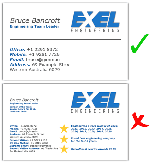 information-on-business-card